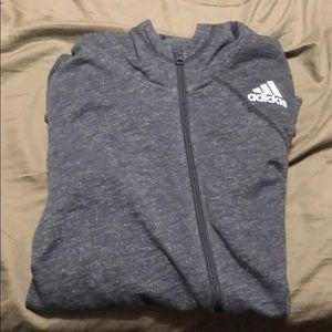 Adidas athletic Jacket Gray size XL